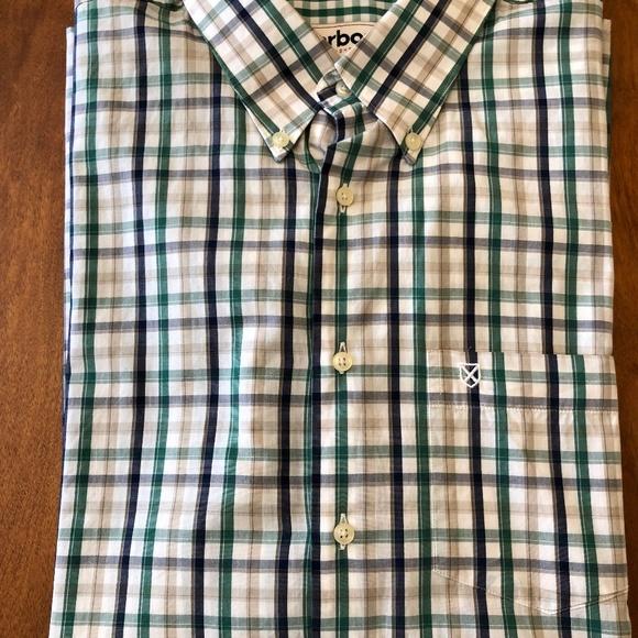 1765c63981a40 Barbour Shirts | Greenbluetan Plaid Buttondown Shirt | Poshmark